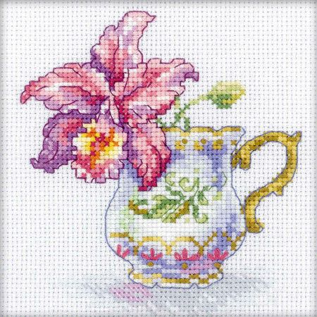 Cross Stitch Craze: Cross Stitch - Orchid Tea Party (kit)