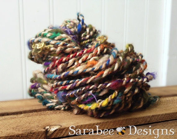 Arabian Nights Super Bulky Handspun Art Yarn. $30.00, via Etsy.