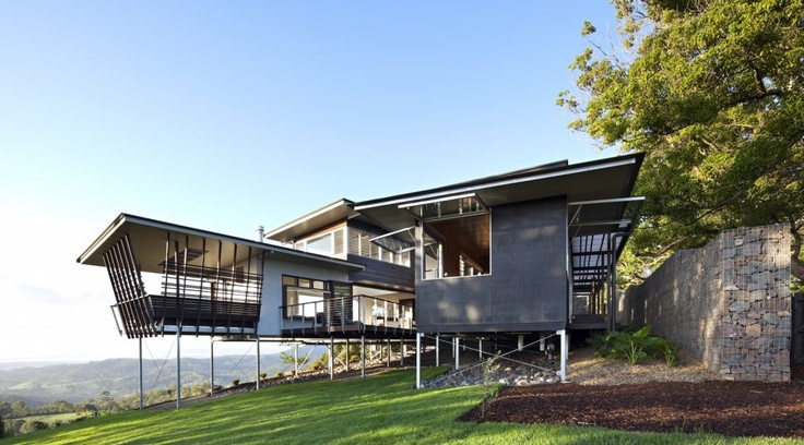 Maleny House, Queensland, Australia by Bark Design Architects.Residential Architecture, Sunshine Coast, Maleny House, Design Architects, Queensland Australia, Glasses House, Bark Design, Mountain House, Stones House