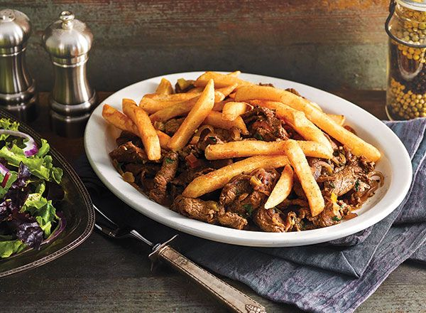 Peruvian Steak Sauté with Fries from Public Aprons (replace soy with coconut aminos)