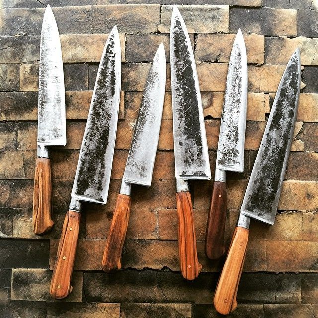 Just Arrived 8 Inch And 10 Inch Chefs Knives Made From Vintage Sabatier Carbon Steel Blanks They Are One Of A Kind Beautiful K Chef Knife Kitchen Knives Knife