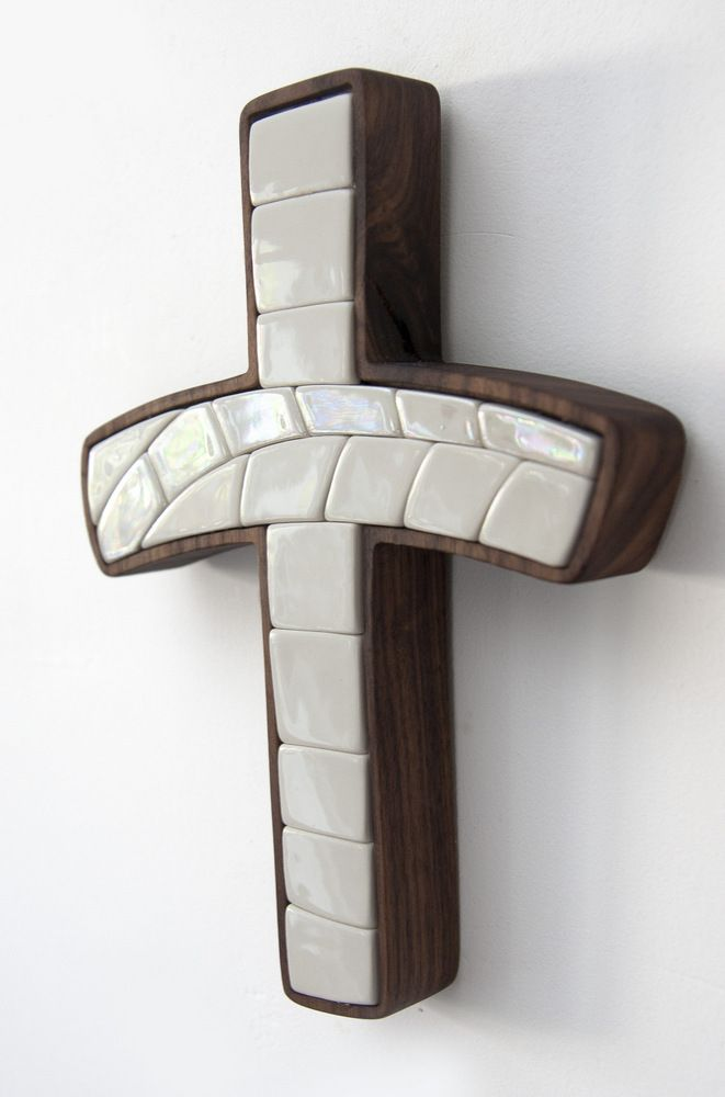 Porcelain, mosaic, walnut Christian modern art,