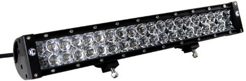 KC Hilites (324) 20 120W LED Spotlight/Flood Light Bar with Harness 20 inch LED light bar complete with wiring harness. Output: 8,000 lumens. Total watt: 120. LED life: 50,000 hours. Each.  #KC_Hilites #Automotive_Parts_and_Accessories