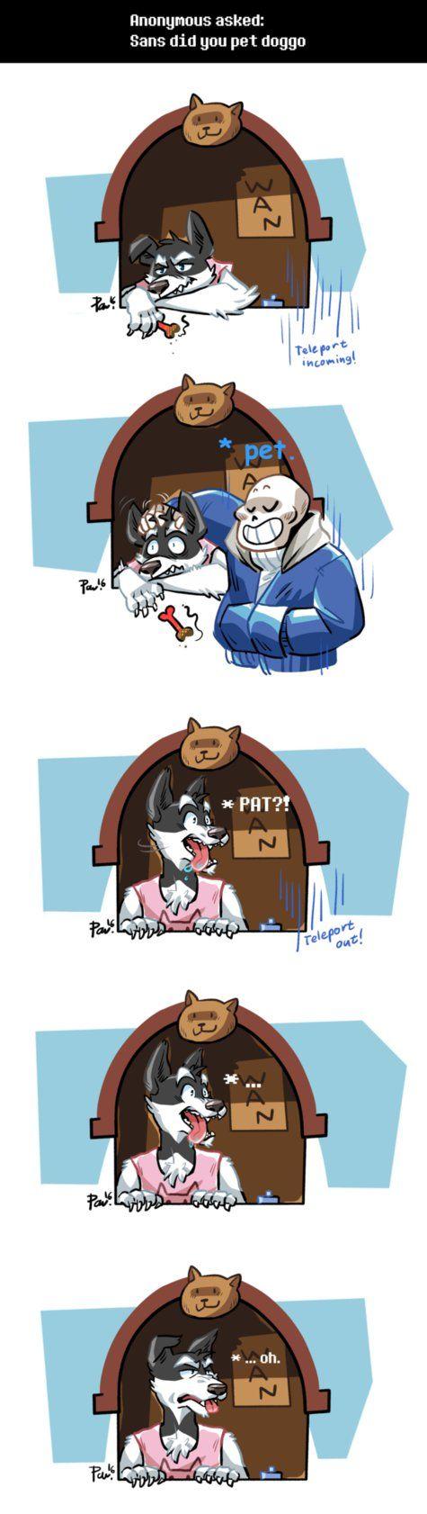 Undertale ask blog: Doggo by bPAVLICA on DeviantArt