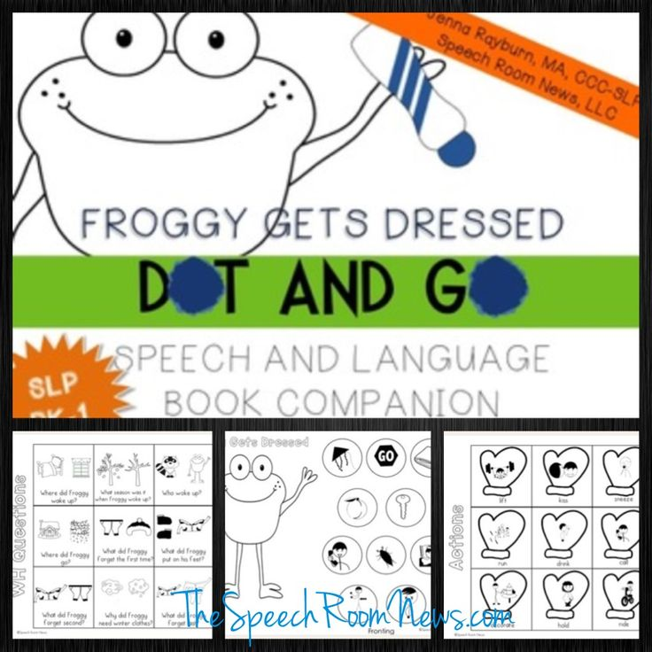 Froggy Gets Dressed: Preschool Book Companions - Speech Room News