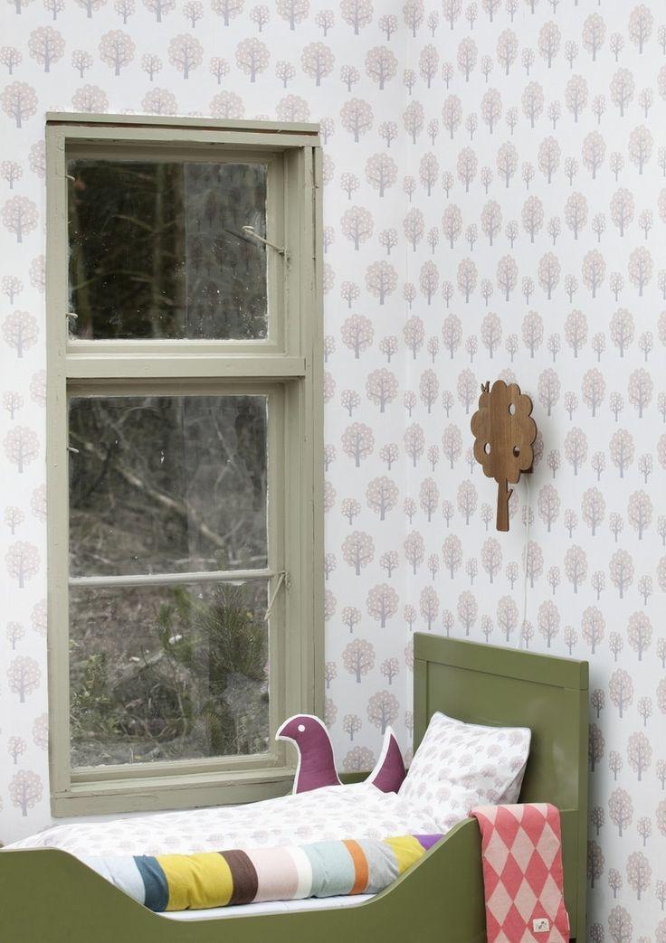 Behang Dotty roze van Ferm Living