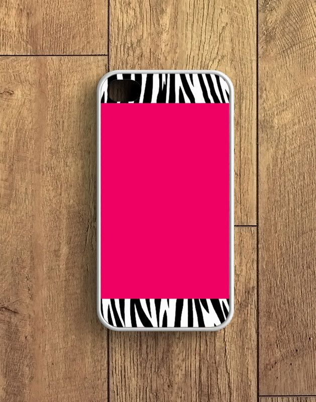 Zebra Pattern On Hot Pink iPhone 4 | 4S Case