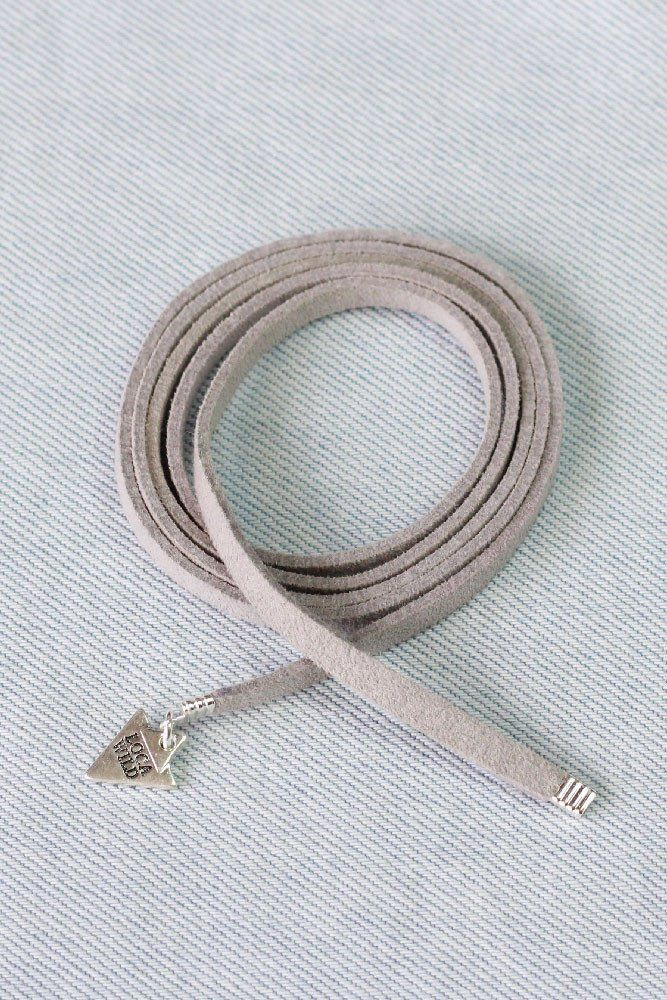 Leather Wrap Grey Thick with charms by Loca Wild. Style up and add charms.