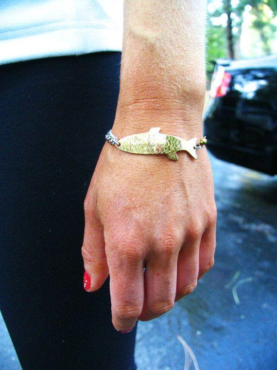 Fishing lure bracelet! Cute idea!
