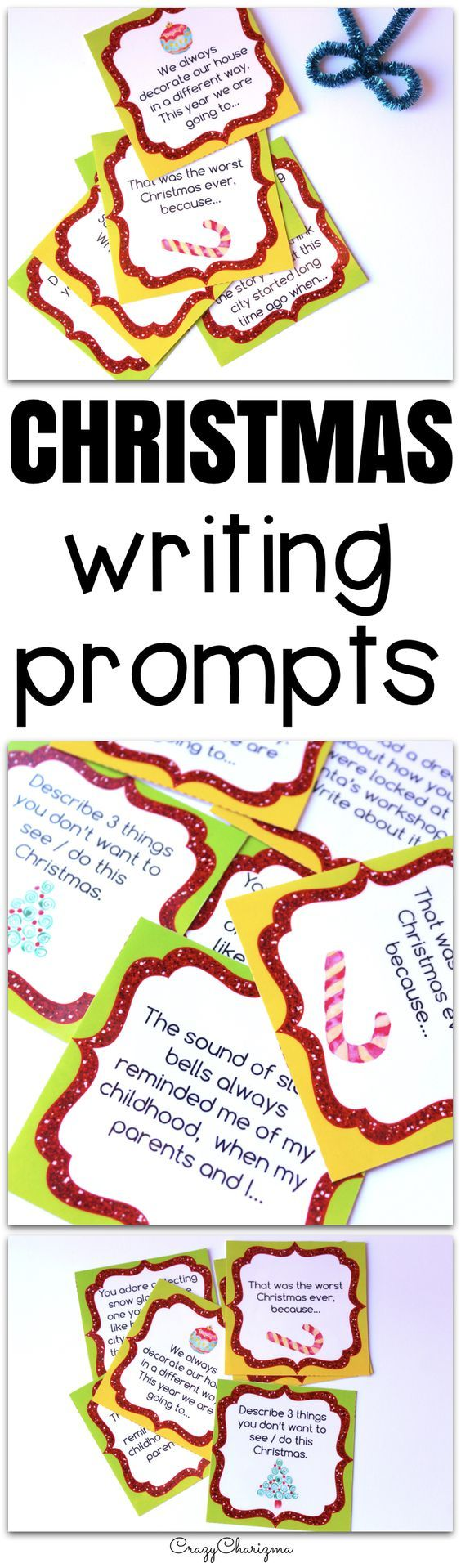 Celebrate Christmas in your classroom and provide students with writing tasks and ideas. The packet contains narrative, informational and opinion writing prompts for teens. The prompts can be used as Writing Centers, as well as with adults during ESL lessons.