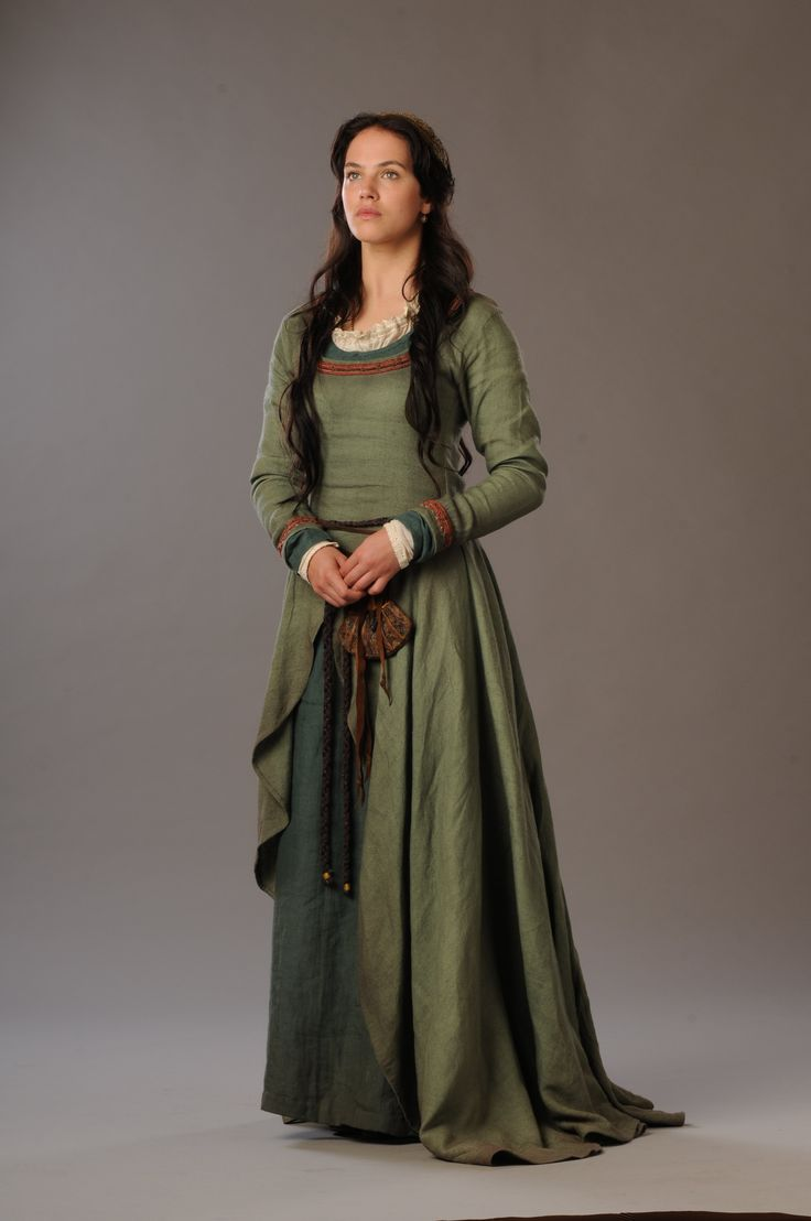 Jessica Brown Findlay as Alais Pelletier Du Mas in Labyrinth (TV Series, 2012) Costume Design by Charlotte Holdich and Moira Anne Meyer