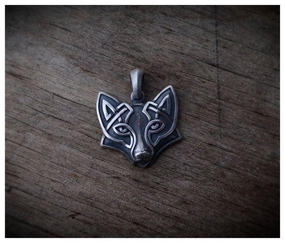 Tête de renard argenté Collier pendentif bijoux par WearTheRare