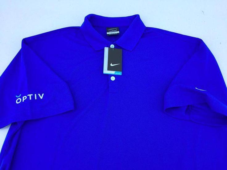Nike Golf Dri-FIT Micro Pique Performance Polo shirt~NEW~ROYAL BLUE~