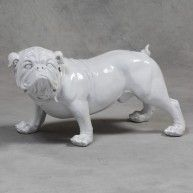 Large English Bulldog Figure statue antique vintage style