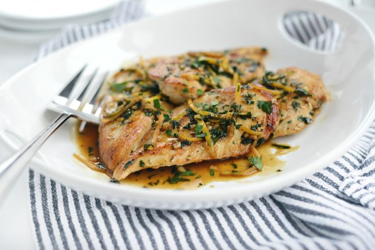 Seared Chicken Breasts with Lemon Herb Pan Sauce l ...