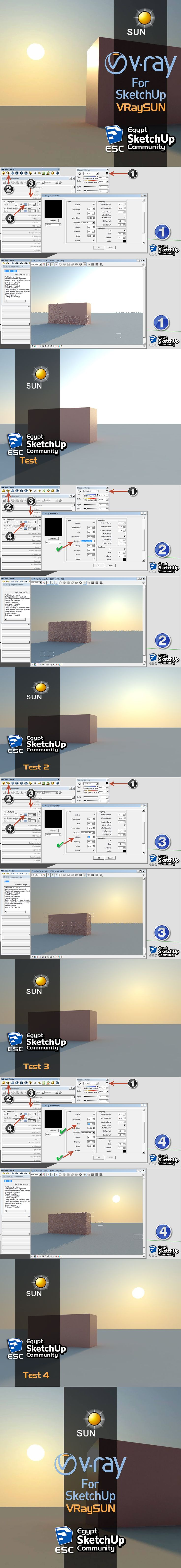 V-ray Sun Tutorial Sketchup V-Ray ChaosGroup Collect by Solømen