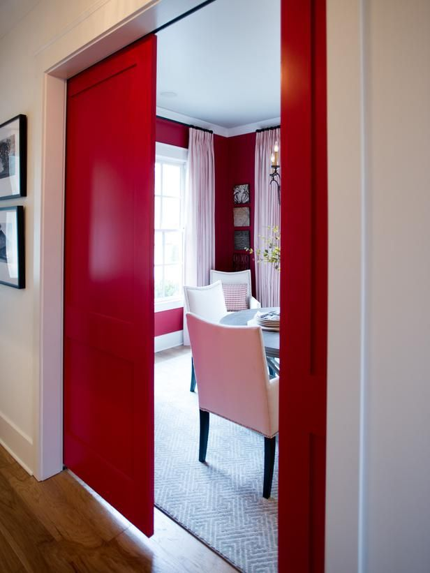 Artistic View Of HGTV Smart Home 2014 Red Living RoomsDining