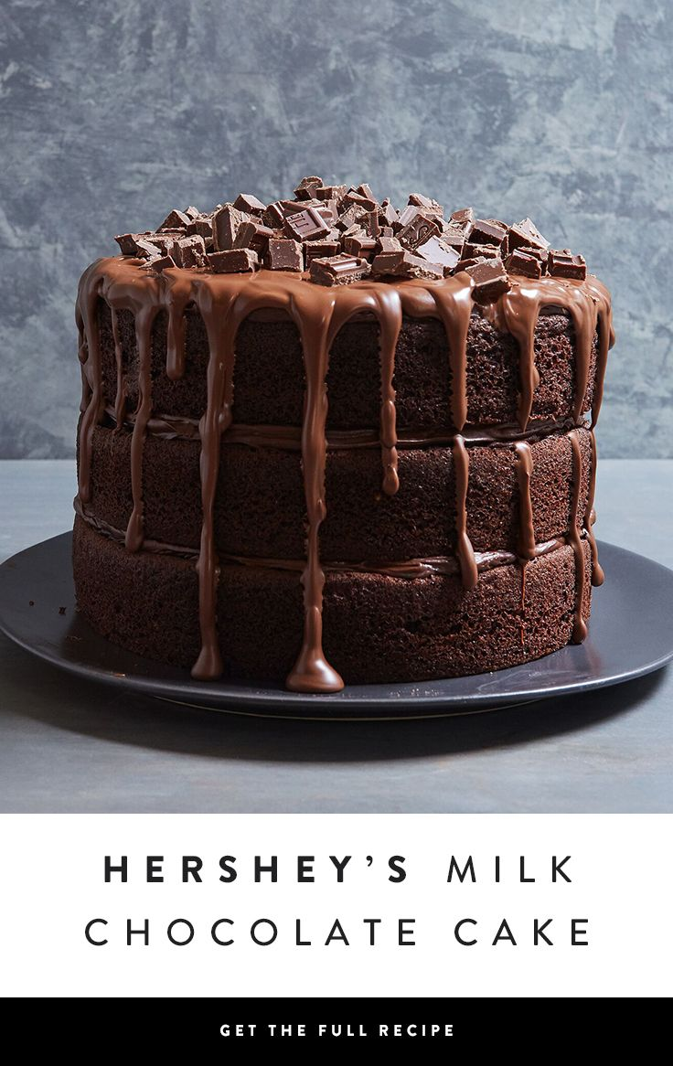 If double-chocolate isn't enough for you, try this recipe for three layers of the ultimate chocolate cake confection. Are you drooling yet?