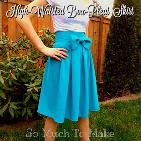 So Much To Make: High-Waisted Box-Pleat Skirt