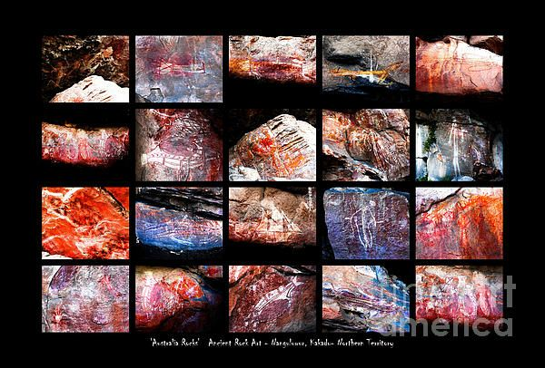 Ancient Rock Art. 'AUSTRALIA ROCKS' Montages. An intimate look at the incredibly fascinating rocks and their formations around Australia. This country has some of the oldest and diverse rock formations in the world.   Visit my photo gallery and get a beautiful Fine Art Print, Canvas Print, Metal or Acrylic Print. 30 days money back guarantee on every purchase so don't hesitate to bring some 'INTEREST and COLOUR' in your home or office!  Prints for sale by Lexa Harpell.