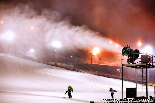 Best day and weekend trips from Seoul, in the winter Jisan resort for snowboarding