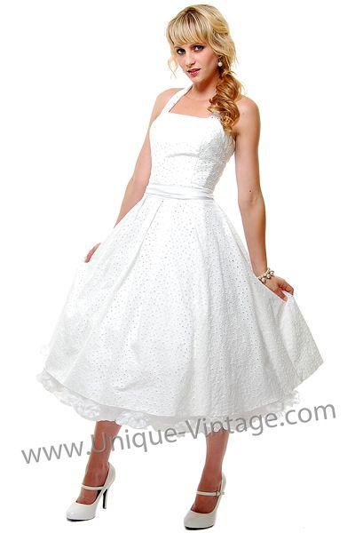 eyelet pinup style dress #wedding #dress $98