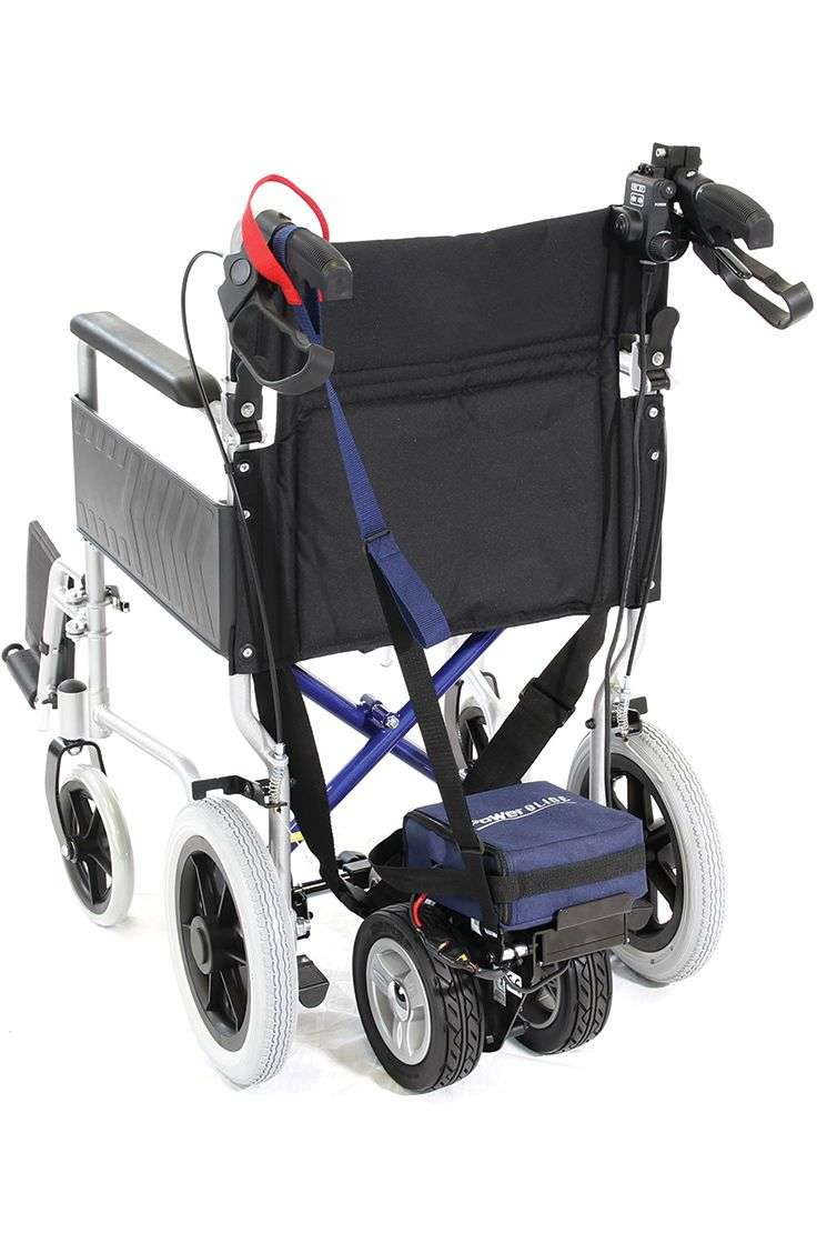 Transform your wheelchair into a powerchair with the well designed and powerful I-Go PowerGlide.