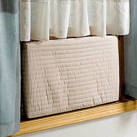 Customer Fave: This item is not only a favorite of our customers but as winter becomes colder and harsher it can help your heating and energy bill. This indoor Air Conditioner cover attaches easily and is machine washable, plus it doesn't look bad either.