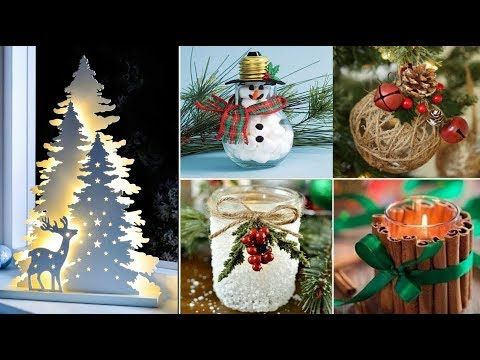 DIY Christmas Decor! 8 Easy Crafts Ideas at Christmas for