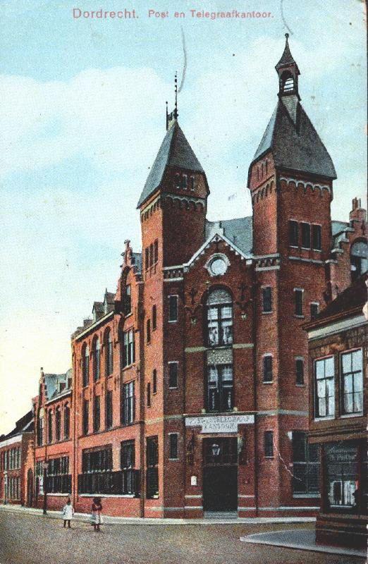 Dordrecht - Bagijnhof - Postkantoor Rond 1960 begon in Dordrecht de nietsontziende sloop van de binnenstad. Tientallen waardevolle panden verdwenen. Ook het postkantoor moest tegen de vlakte.