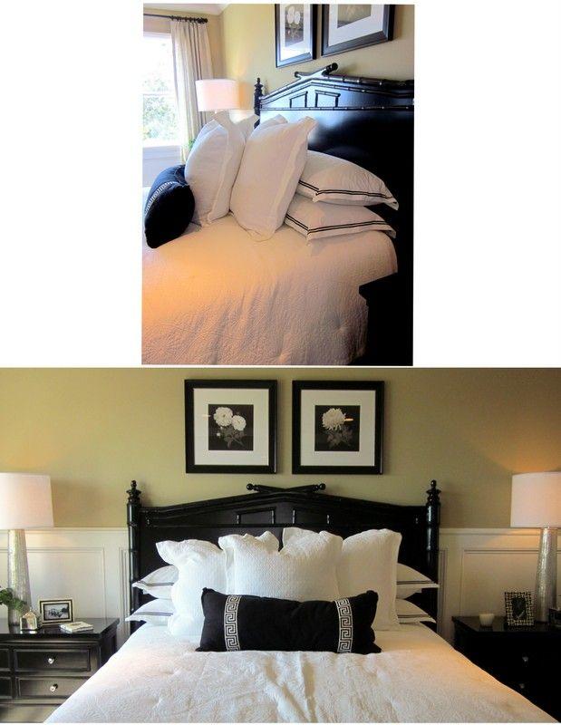 die besten 25 bett kissen anordnung ideen auf pinterest kissen anordnung schlafzimmer. Black Bedroom Furniture Sets. Home Design Ideas