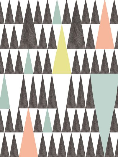 Triangle pattern Stretched Canvas