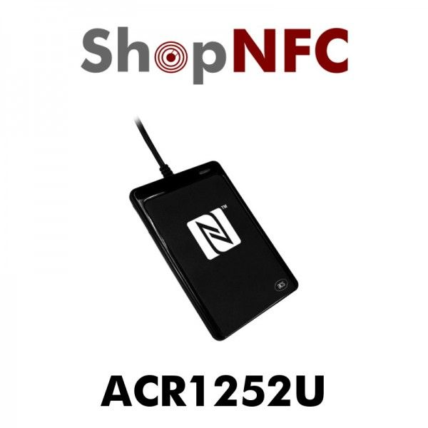 ACR1252U is a contactless reader and writer, which  is capable of the three modes of NFC, namely: card reader/writer, card emulation, peer-to-peer communication.  http://www.shopnfc.it/en/nfc-readers-writers/124-acr1252u-nfc-reader.html
