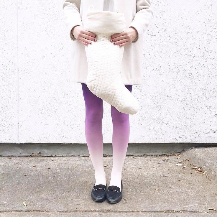 @blousesandhouses  on instagram in our Ivory-purple ombre tights! Check out our webshop: https://virivee.com/?