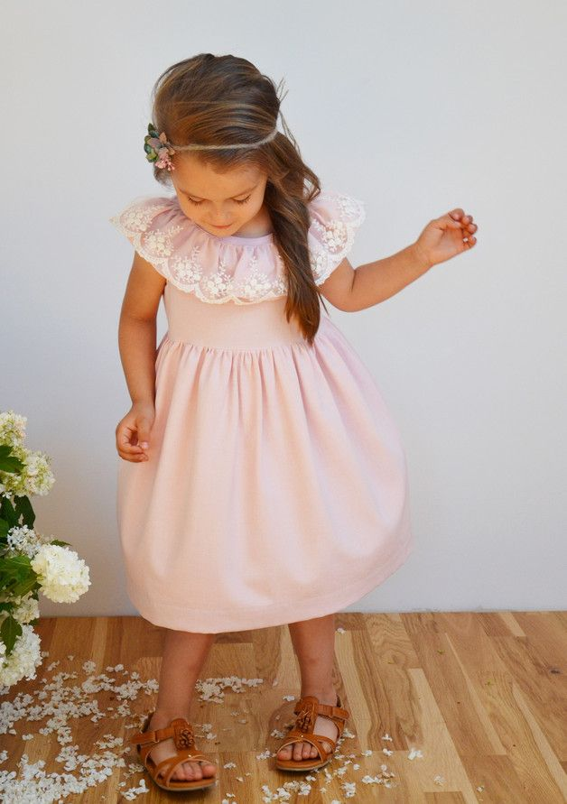 Sukienka Izabell róż (URLOP od 10 do 20 lipca) - Linsske-odziez - Sukienki dla dziewczynek