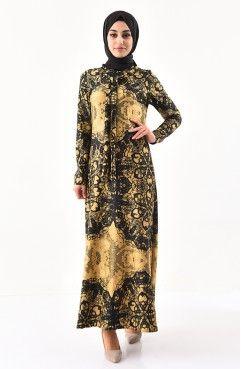 f35af0df6b161 Volanlı Elbise 3229-06 Haki | el yapımı | Fashion