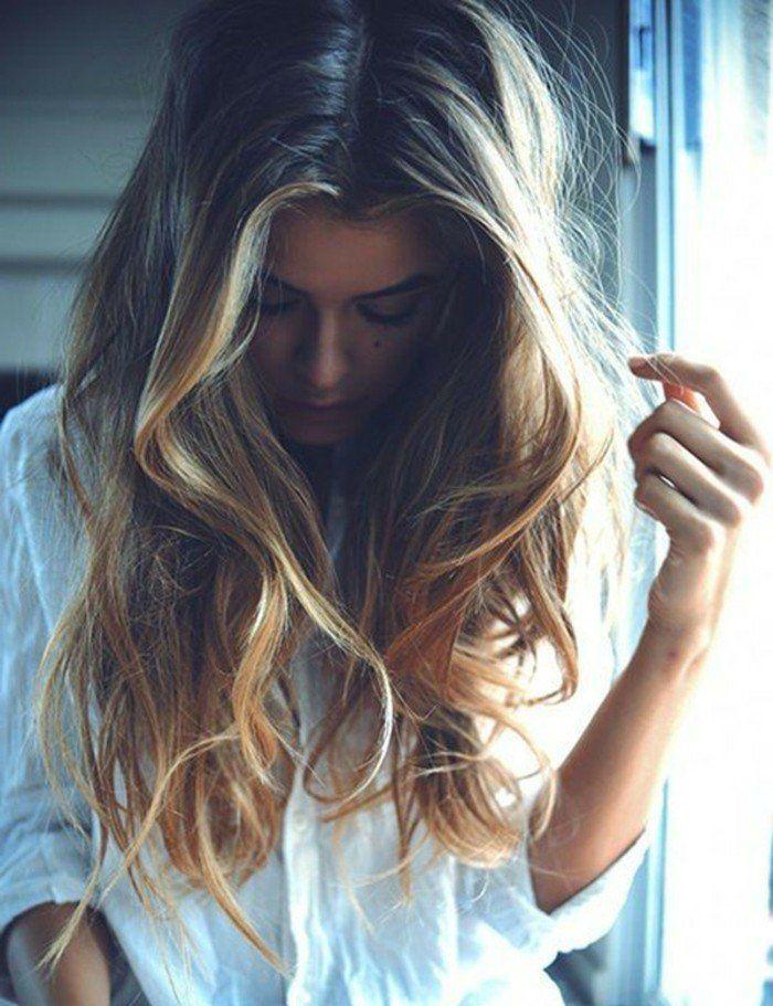 balayage blond ou caramel pour vos cheveux ch tains balayage sur cheveux brun cheveux bruns. Black Bedroom Furniture Sets. Home Design Ideas
