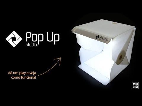 Pop Up Studio da Mutu é portátil e já vem com iluminação própria.