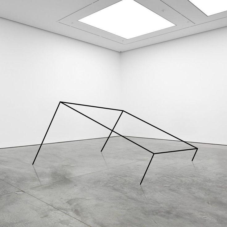 """Half Cube"". 2018.  #conceptualart #artinstallation #artist  #installationart #minimalsculpture #visualisation  #contemporaryart #artnow #visualartist #contemporaryartist  #mikaelchristianstrobek"