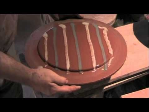 Guy Wolf demonstrating a slipware bowl method.