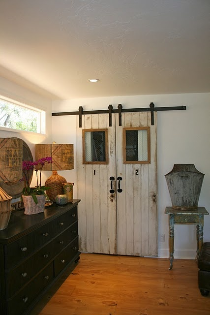 Barn Doors aka/closet doors @ThePolishedPebbleDecor, The Doors, Ideas, Closet Doors, Closets Doors, Sliding Barns Doors, Barn Doors, Old Doors, Sliding Doors