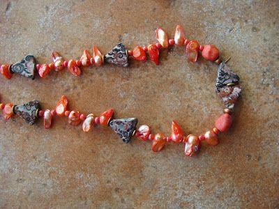 foto hand made jewels  Φωτεινή Μάμαλη: Κολιέ με αυθεντικά μαργαριτάρια σε υπέροχα χρώματα...