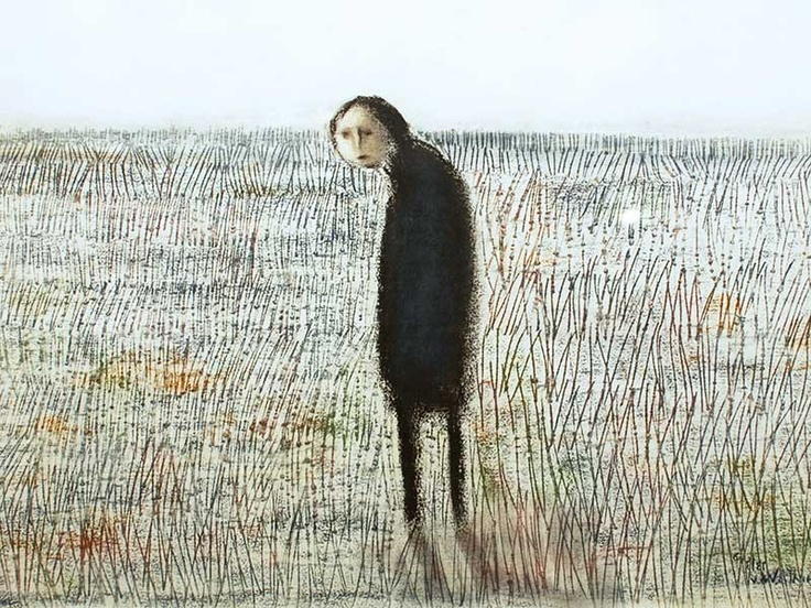 """Titled """"lonely"""" by Pieter Van Der Westhuizen  This celebrated South African artist has a large following, however I seldom see works that move me.  This one does."""
