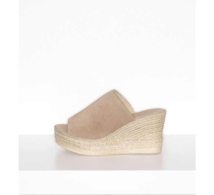 """Platform Slide (Nude) - New Arrivals    Take it up a couple notches (or inches) with our new """"Minni"""" collection of platform sandals! These gorgeous classics features REAL Italian leather uppers (made in Italy) and faux braided bottoms making them nice and lightweight to walk in! (No heavy clunkiness here!)"""