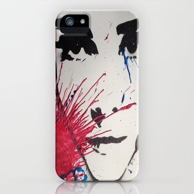 Audrey hepburn spray paint and wax iphone ipod case for Spray paint iphone case