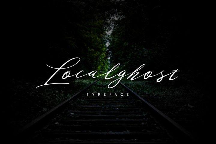 FREE Localghost Handwritten Font By TheHungryJPEG