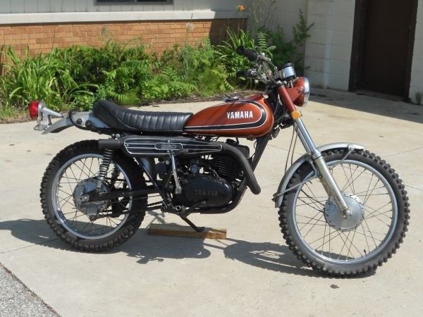 1973 Yamaha 360 Dads trail bike that led him away from the craft of riding horses. Much to his fathers regret.