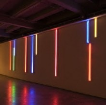 Peter Kennedy's neon light installation.