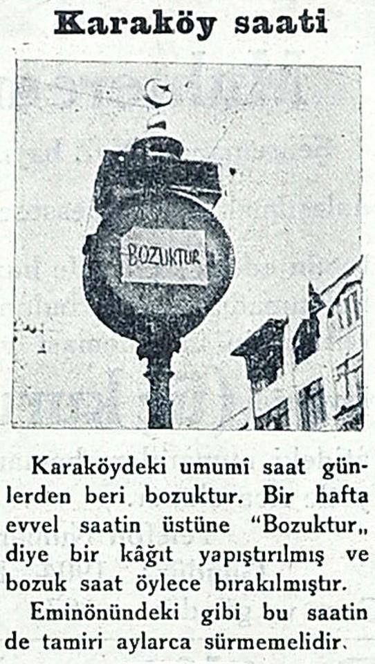 ''bozuktur!'' #KaraköySaati #istanlook