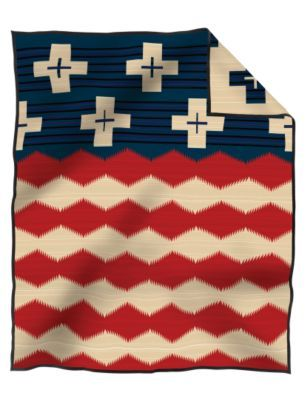 Pendleton Woolen Mills: BRAVE STAR BLANKET Ridiculously cool. I'd want as a throw size or a king size though.